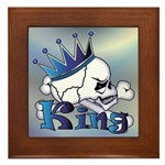 Skull King Framed Tile