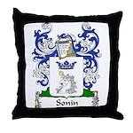 Sonin Family Crest Throw Pillow