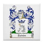 Sonin Family Crest Tile Coaster