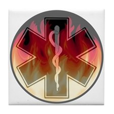 Flaming Star of Life Tile Coaster