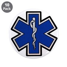 "EMS Star of Life 3.5"" Button (10 pack)"