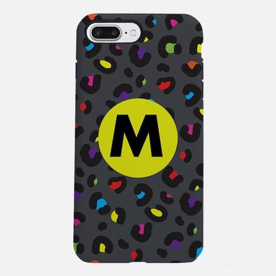 Rainbow Cheetah Monogramm iPhone 7 Plus Tough Case