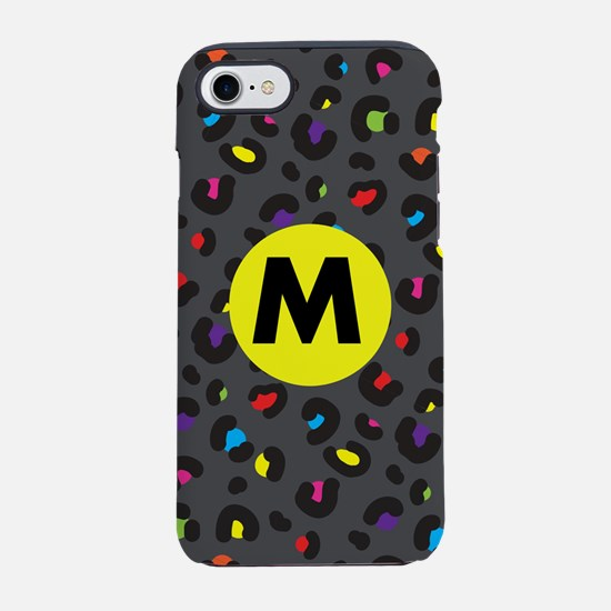 Rainbow Cheetah Monogrammed iPhone 7 Tough Case