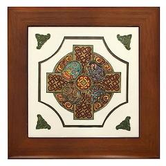 Ornate Celtic Cross Framed Tile