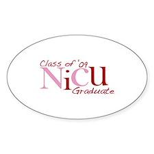 NICU Graduate 2009 (Pink) Oval Decal