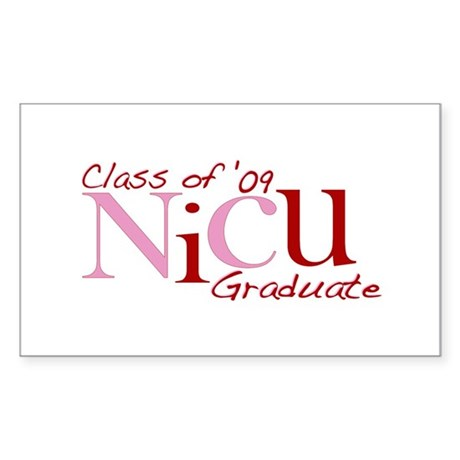 NICU Graduate 2009 (Pink) Rectangle Sticker 50 pk