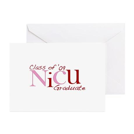 NICU Graduate 2009 (Pink) Greeting Cards (Pk of 10
