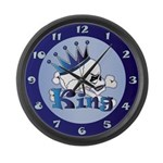 Skull King Large Wall Clock