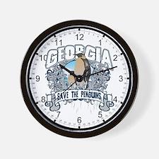 Save the Penguins Georgia Wall Clock