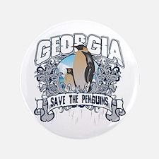 "Save the Penguins Georgia 3.5"" Button"