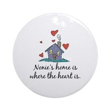 Nonie's Home is Where the Heart is Ornament (Round