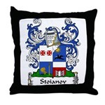 Stoianov Family Crest Throw Pillow