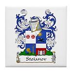 Stoianov Family Crest Tile Coaster