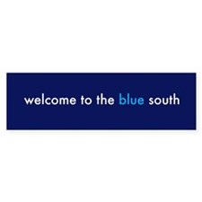 Blue South Bumper Bumper Sticker