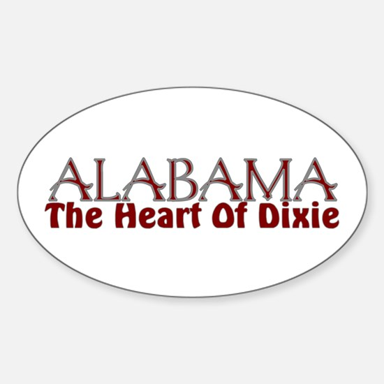 Alabama the heart of Dixie Oval Decal