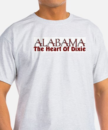 Alabama the heart of Dixie Ash Grey T-Shirt