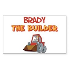 Brady the Builder Rectangle Decal