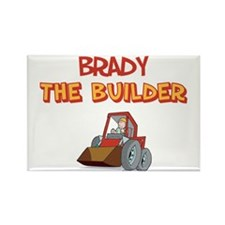 Brady the Builder Rectangle Magnet