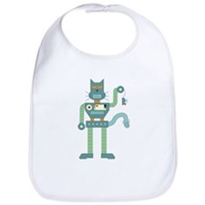 Robot Cat Mouse Toy Baby Bib