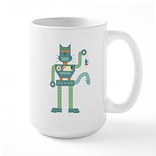 Robot Cat Mouse Toy Large Coffee Mug