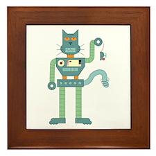 Robot Cat Mouse Toy Framed Tile