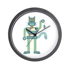 Robot Cat Mouse Toy Wall Clock
