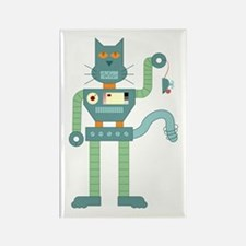 Robot Cat Mouse Toy Rectangle Magnet