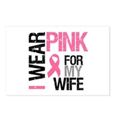 I Wear Pink Wife Postcards (Package of 8)
