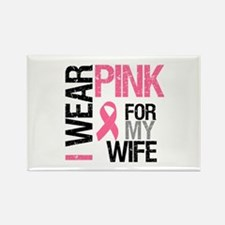 I Wear Pink Wife Rectangle Magnet
