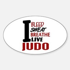 Bleed Sweat Breathe Judo Oval Decal