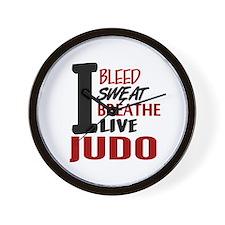 Bleed Sweat Breathe Judo Wall Clock