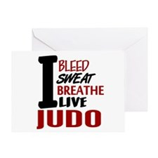 Bleed Sweat Breathe Judo Greeting Card