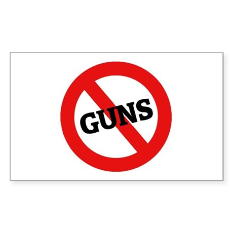 Anti Guns Rectangle Sticker