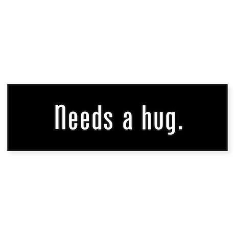 Hug Me Black Bumper Sticker
