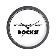 MY Government Agent ROCKS! Wall Clock