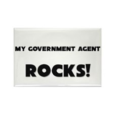 MY Government Agent ROCKS! Rectangle Magnet