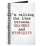 Walk Line Bravery Stupidity Journal