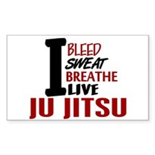Bleed Sweat Breathe Ju Jitsu Rectangle Decal