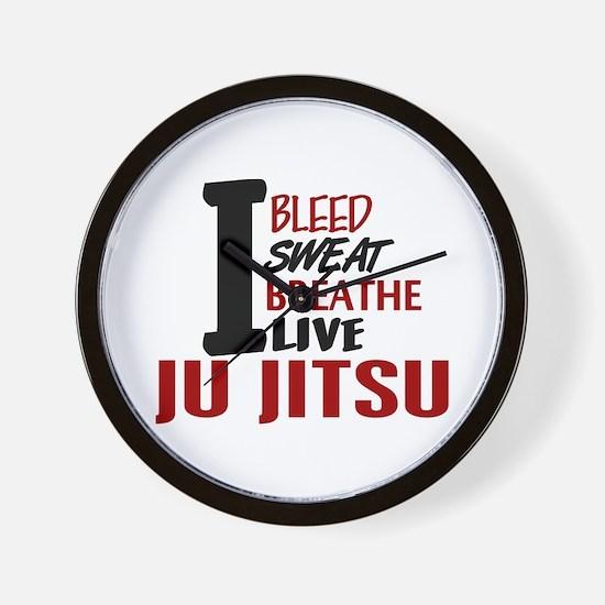 Bleed Sweat Breathe Ju Jitsu Wall Clock