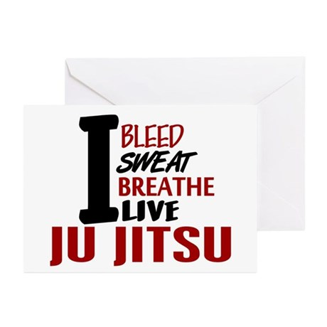 Bleed Sweat Breathe Ju Jitsu Greeting Cards (Pk of