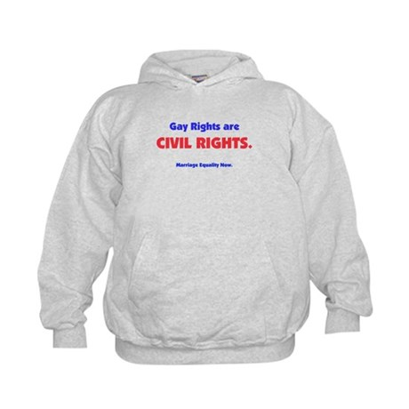 Gay Rights are Civil Rights Kids Hoodie