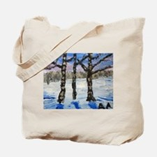 "Tote Bag: ""Three Birch Trees"" by Anne K"