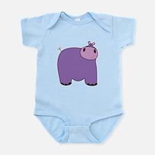 Friendly Hippopotomus Infant Bodysuit