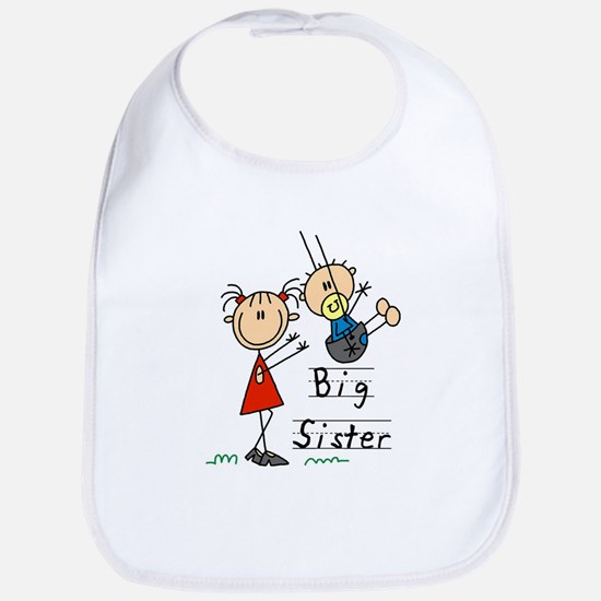 Swing Big Sister Little Brother Bib