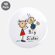 "Swing Big Sister Little Brother 3.5"" Button (10 pa"