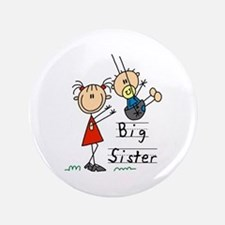 "Swing Big Sister Little Brother 3.5"" Button"