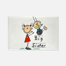 Swing Big Sister Little Brother Rectangle Magnet