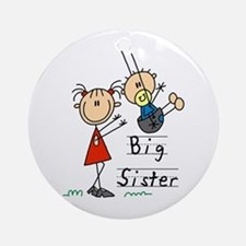Swing Big Sister Little Brother Ornament (Round)