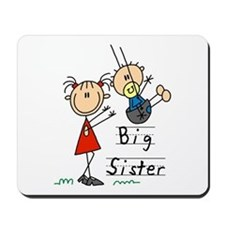 Swing Big Sister Little Brother Mousepad