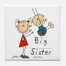 Swing Big Sister Little Brother Tile Coaster